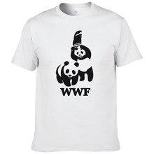WEWANLD борьба WWF панда комедия короткий рукав крутая Camiseta Футболка мужская летняя модная забавная футболка#188