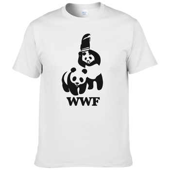 Camiseta divertida de manga corta de la Panda de la lucha de WWF Camiseta de los hombres de la Camiseta de la manera del verano #188