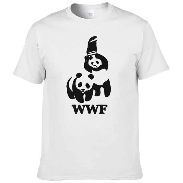 Wewanld Worstelen Camiseta Shirt Mouw Korte Wwf Comedy Cool Panda T D29HIE