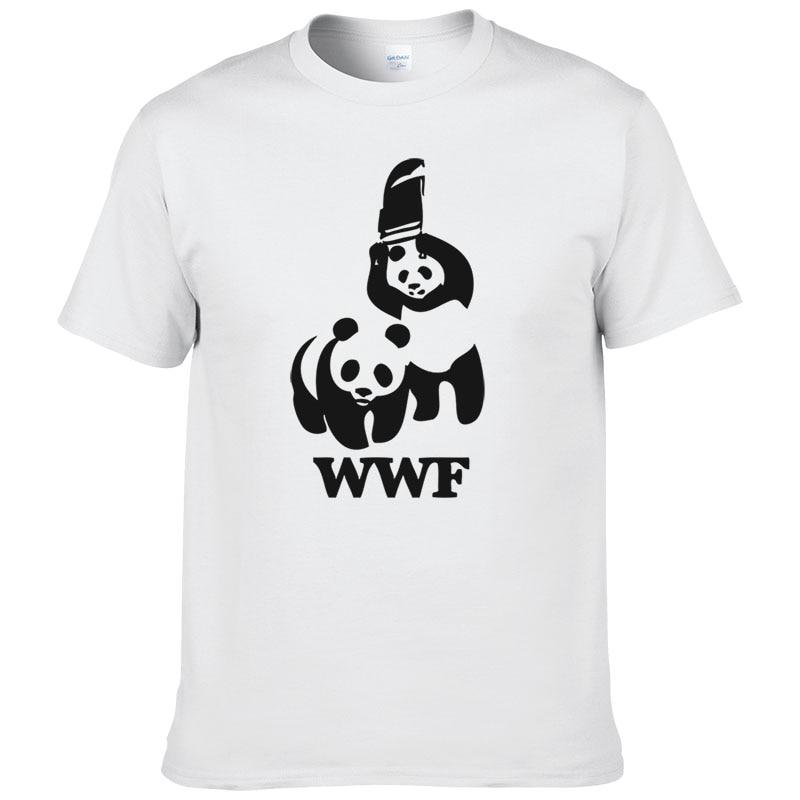 WEWANLD WWF Wrestling Panda Comedy Short Sleeve Cool Camiseta T Shirt Men T Shirt Summer Fashion Funny T-shirt #188