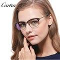 Carfia высокое качество оптических рама мужчины очки женщины очки óculos де грау сделать рецепт объектив
