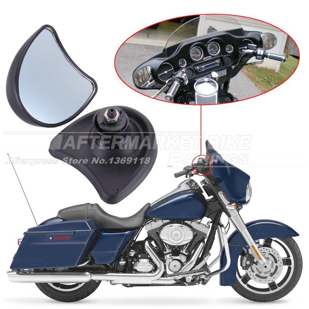 Motorcycle Rear View Mirror 10mm For Harley Street Glide FLHX / Electra Glide FLHT FLHTK FLHTCU 1996-2013 for 1996 later harley davidson electra glide flhtcu i
