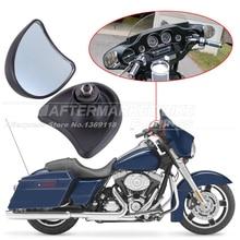 Motorcycle Rear View Mirror 10mm For Harley Street Glide FLHX / Electra Glide FLHT FLHTK FLHTCU 1996-2013