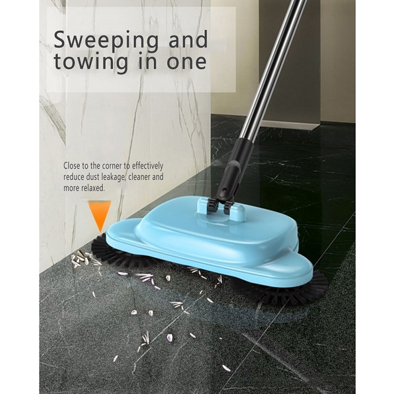 Vacuum-Cleaner Sweeper Broom Household Hand-Push Dustpan-Handle Stainless-Steel Push-Type