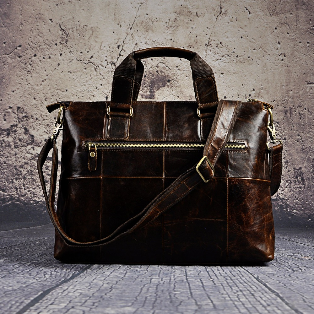 "Men Genuine Leather Office Maletas Business Briefcase 15 6 Laptop Case Attache Portfolio Bag Maletin Messenger Men Genuine Leather Office Maletas Business Briefcase 15.6"" Laptop Case Attache Portfolio Bag Maletin Messenger Bag B260"
