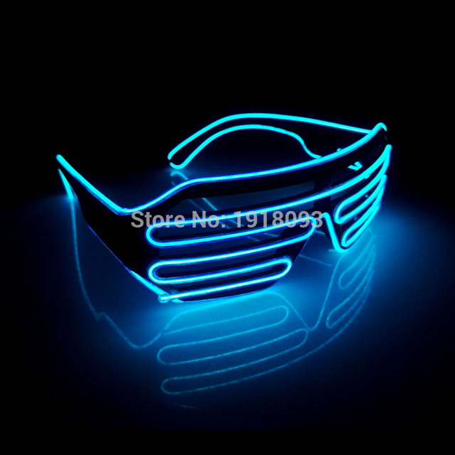 2017 Hot Sales EL Wire Neon LED Light Up Shutter Fashionable Glasses  Festival Holiday lightinToys With Steadyon/Flashing Driver