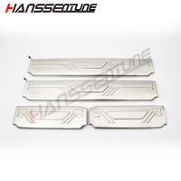 New Stainless Steel 4 LED Doors Sill Scuff Plate For D MAX 2012+