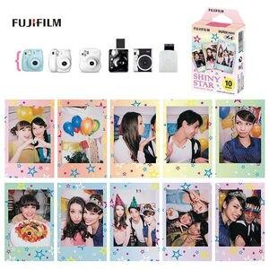 Image 4 - Fujifilm Instax Mini Film Mini 9 фотобумага 10/20/30 листов черная Конфета поп блестящая Звезда спелая для мгновенной Мини камеры 7s 8 9 11