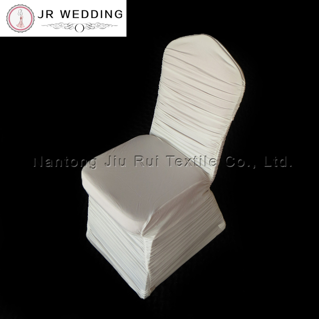 100 pcs Free Shipping Colorful Spandex Lycra Ruffled Chair Cover Ruched Chair Cover