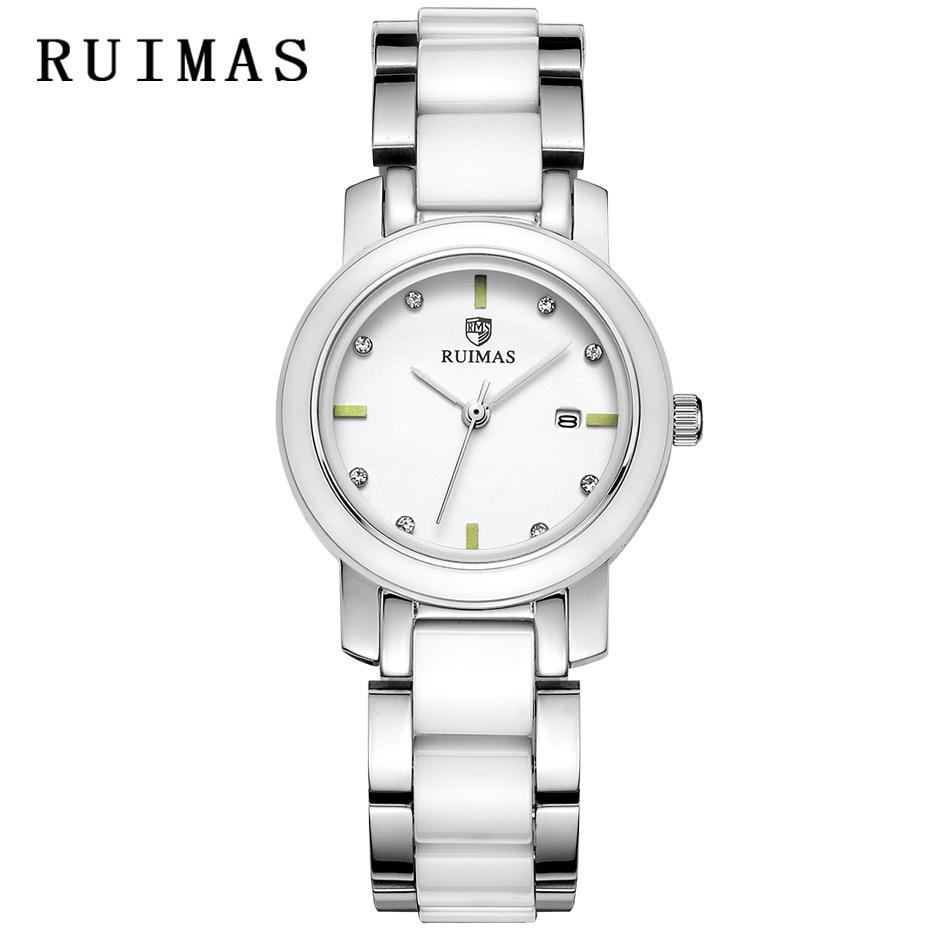 Relogio Feminino женские роскошные часы женские наручные часы женские модные кварцевые часы из нержавеющей стали часы RUIMAS Montre Femme