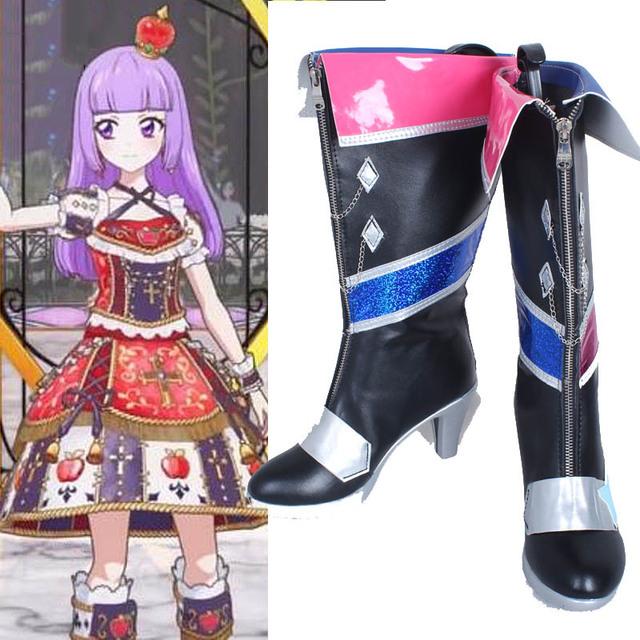 Aikatsu Hikami Sumire Cosplay Zapatos Botas de Tacón Alto Hecho A Mano Personalizar Nuevo
