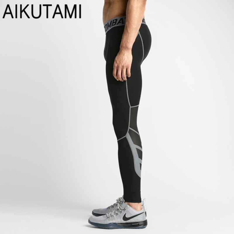 Compression Tights Men Base Layer Trousers Spandex Sport ...