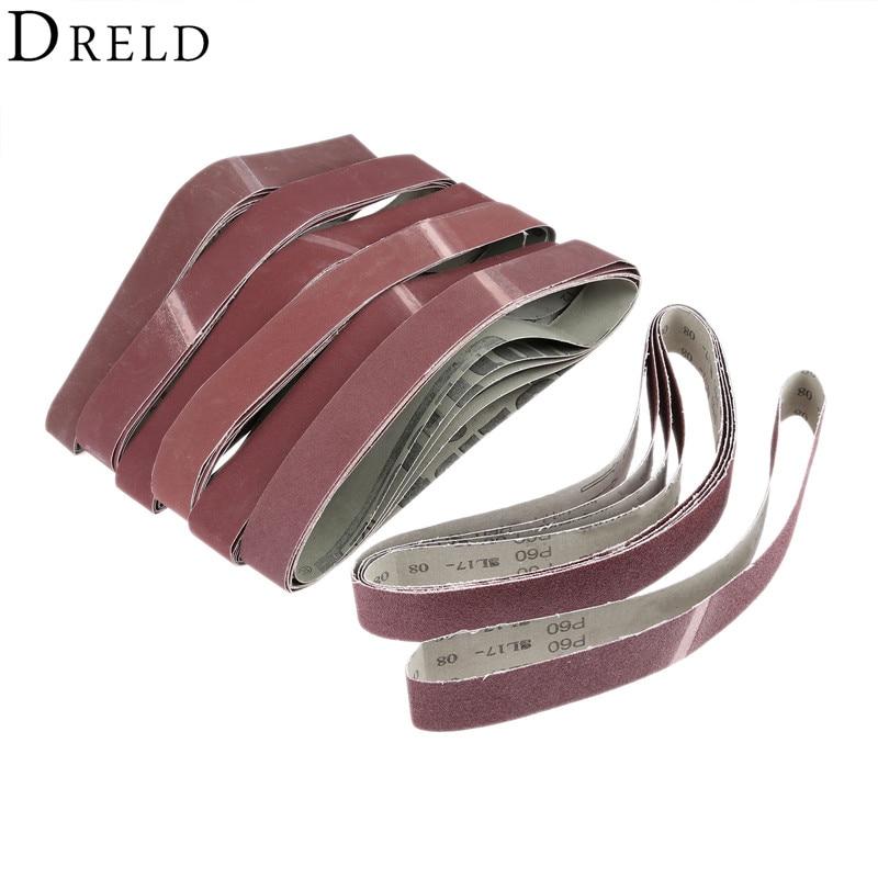 10 Pcs 330x10mm Blue Aluminium Oxide Sanding Paper 40-120 Grit Polishing Sandpaper Grinding Pad Disc Abrasive Belts For Sander Tools