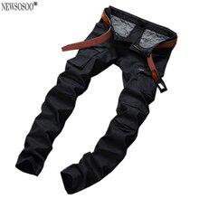 Newsosoo бренд мужской вскользь тощие натяжные джинсы для мужчин slim fit прямые карманы Balmans стиль мужские джинсы hombre MJ68