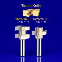2Pcs Tongue & Groove Router Bit Set 1/2 Inch Shank tenon knife woodworking 1135-1136