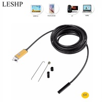 AN99 2 in 1 USB Endoscope 5M 10M Phone Endoscope Inspection Camera Waterproof 6 LEDs Mini Borescope Tube For Android & PC New Surveillance Cameras