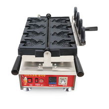 2018 hot sale  New ice cream taiyaki open mouth fish 4pcs waffle maker machine with lowest price