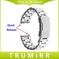 22mm banda para pebble tiempo de liberación rápida/acero asus zenwatch 1 2 22mm lg g watch w100 w110 w150 correa de pulsera de acero inoxidable