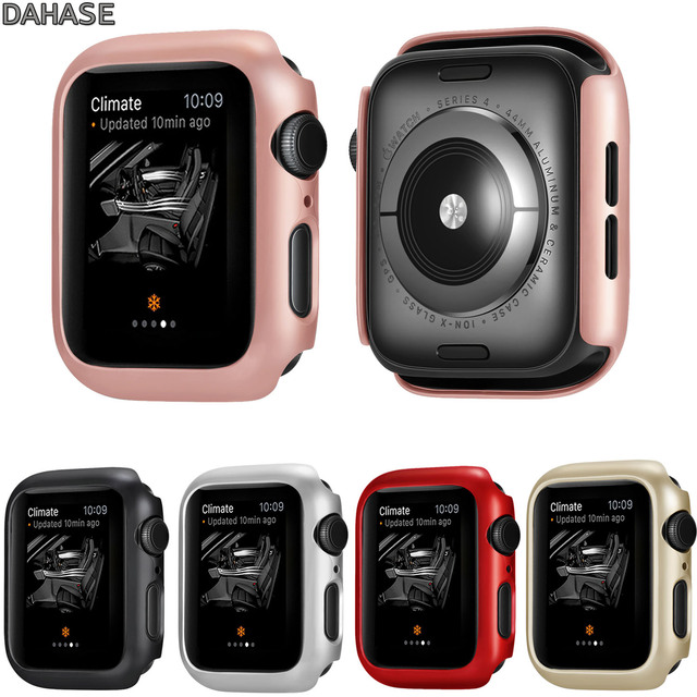 release date 5eb9b 43a55 US $3.47 30% OFF|Frame Protective Case For Apple Watch Series 4 44mm 40mm  Cover Shell Perfect Bumper Case for iWatch 4 Cover Band Strap-in Watchbands  ...