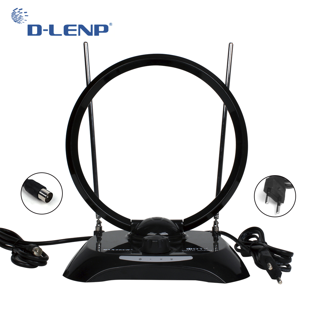 Dlenp Antennas TV Receiving Antenna Indoor High Gain For DVB-T2 For ISDB-T ATSC Set Top Box Smart TV Receivers with IEC-Male dvb t isdb digital tv box for our car dvd player