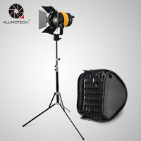 80W Fresnel Led Light With V mount 5500/3200K+Bowen Speed Mount Softbox+2.1m Stand For Camera Video Studio Photography Light Kit