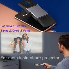 Für motorola moto Z2 Spielen Z Droid Z Force Z Spielen Z telefon DnGn original moto insta-teilen projektor Magnetische adsorption freies schiff