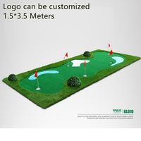 PGM Гольф положить зеленый газон пол практика резины искусственного Гольф коврик training chippin вождения удара Гольф искусственной травы