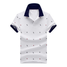 Legible camisa de Polo de alta calidad sólido rayas hombres corta de la  manga del algodón bf93c28cd3761