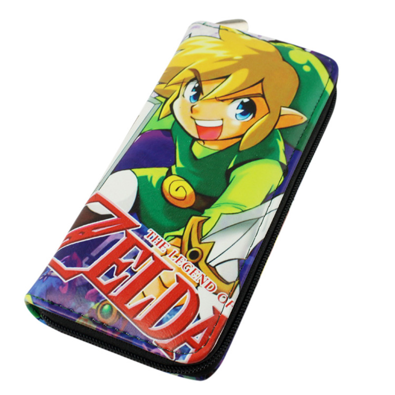 Japanese Game The Legend of Zelda Long Style PU Wallet With Colorful Printing Of Skyward Sword Link With zipper the legend of zelda wallet dft 1922