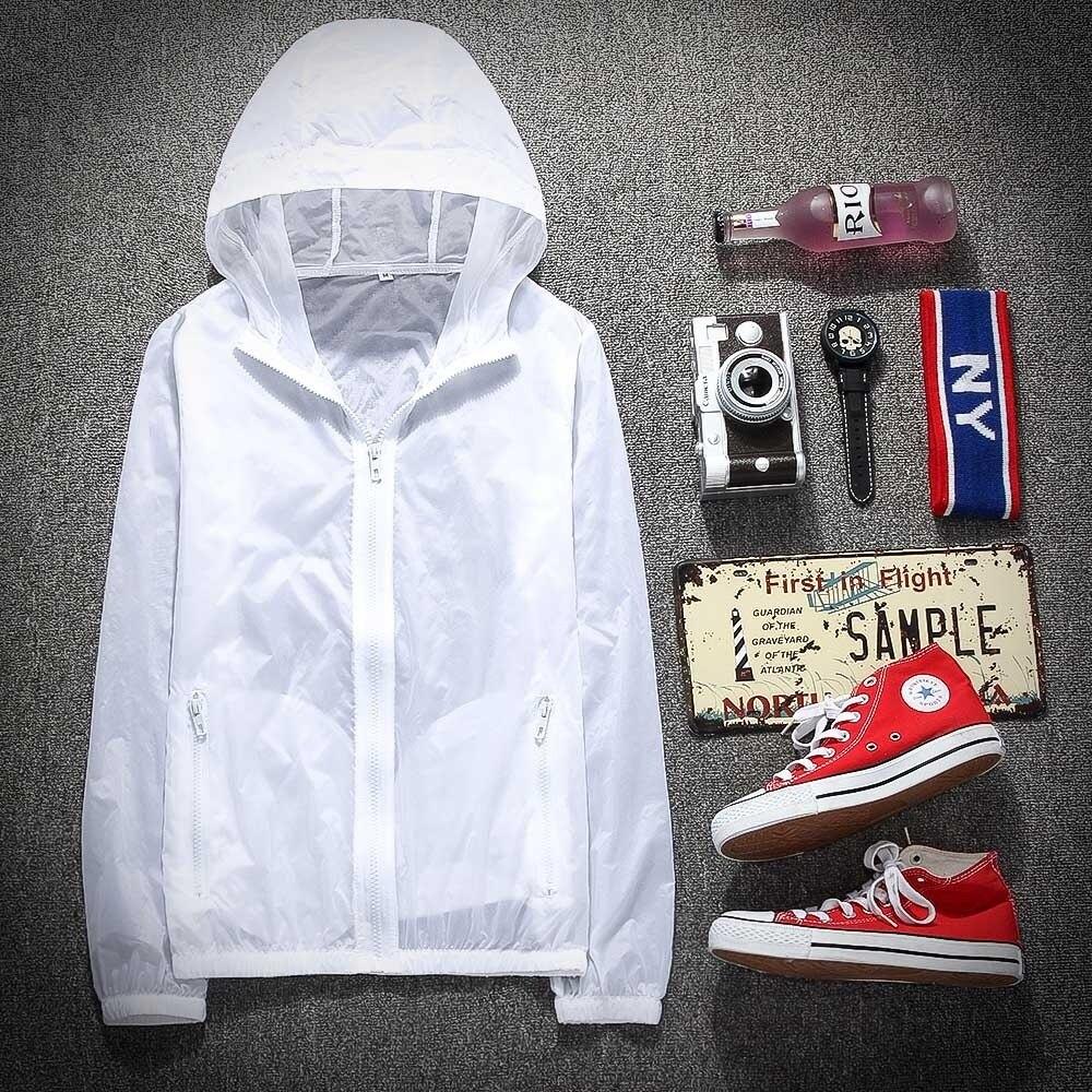 Motivated Simplicity Men / Women Uv Sun Protection Quick Dry Slim-fit Thin Transparent Jacket