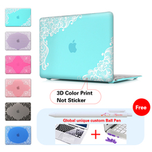 Encaje de Paisley Floral Accesorios Hard Cases Cubierta Para Macbook Laptop Caso Pro 13 Pro 13 15 Retina Laptop Skin Protector Shell