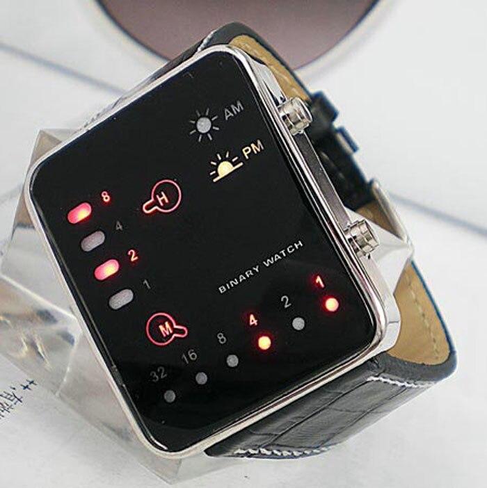 aa58512c0c3 Relógio de Led Termômetro Masculino Pulseira de Couro