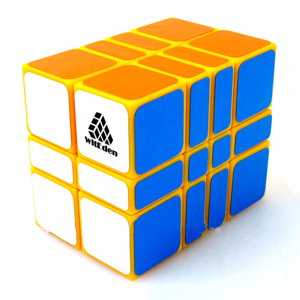 Zhi Li Le Yuan Witeden 2x3x4 Yellow Magic Cubes Puzzle Speed Rubiks Cube Educational Toys Gifts for Kids Children