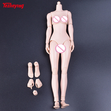 1/6 Scale Female Body Mid Breast Pale Skin Action Figure Body(Rubber Layer) Feet Height Roots Plastic 12 Inch HT PH Doll