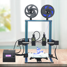 TL-D3 Impresora 3D Dua Warna 3D Printer Dual Nozel 300*300*400 Mm Linear Rail Digital 3D Printing layar Sentuh 4.3 Inci(China)