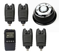 New Wireless Multi Led Bite Alarm And Touch Receiver And Tent Carp Fishing SET