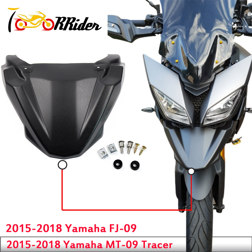 MT 09 Accessories Front Hugger Wheel Fender Cover Beak Nose Cone Extension for Yamaha 2015-2018 MT-09 FJ-09 MT09 FJ09 Tracer(China)