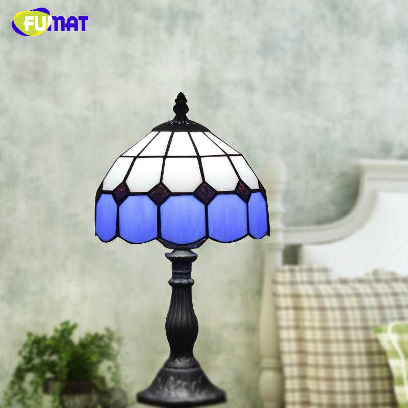 все цены на FUMAT Stained Glass Table Lamp Baroque Style Glass Lamp For Living Room Bedroom Bedside Light Fixture Bar Decor Table Lights