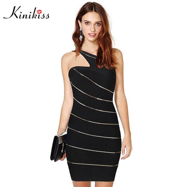 Kinikiss brand designer women dress short black sheath bodycon dress sexy  summer hot club dress off ca508d33828b
