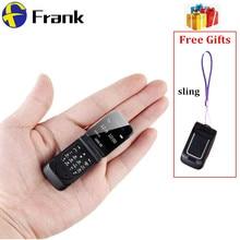 """Мини флип мобильный телефон LONG-CZ J9 0,6"""" маленький сотовый телефон беспроводной Bluetooth Dialer FM волшебный голос Handsfree Наушники для детей"""