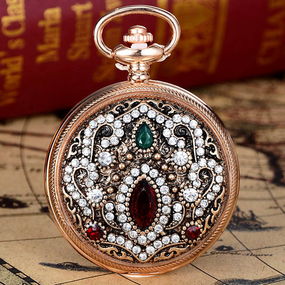 Women Vintage Fashion Retro Pocket Watches Necklace Pendant with Chain Men Women Birthday Gift Quartz Clock Relogio new fashion bill cipher gravity falls quartz pocket watch analog pendant necklace men women kid watches chain gift retro vintage