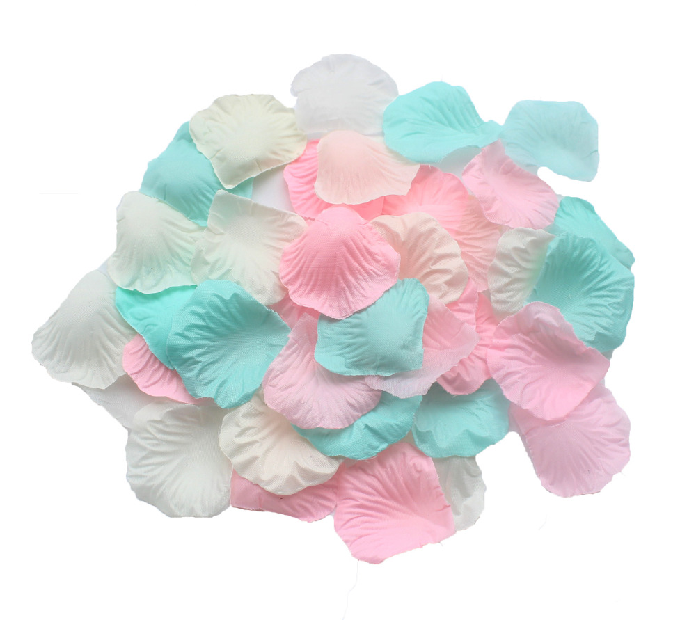 600PCS Mixed Ivory Mint Green Pink Rose Petals Table Confetti ...