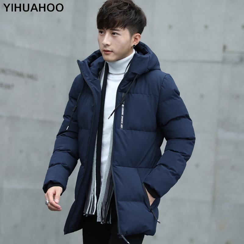 Winter Jacket Men Hooded Thick Warm   Parka   Coat Cotton Padded Zipper Outerwear Fashion Windbreaker Jackets Men Plus Size 4XL 5XL