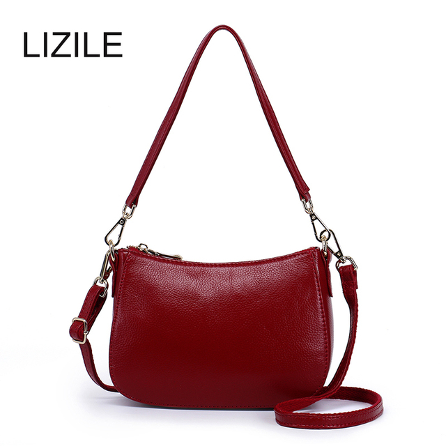 Genuine Leather Women's handbag 2017 autumn and winter soft first layer of cowhide Shoulder Bag Messenger Bag small bag mini Bag