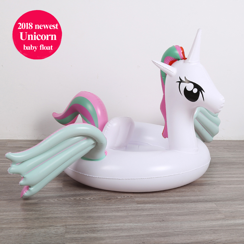 24 Style Baby Inflatable Unicorn Pool Float Flamingo Ride-On Kids Swimming Ring Swan Floating Water Party Toys For Children boia