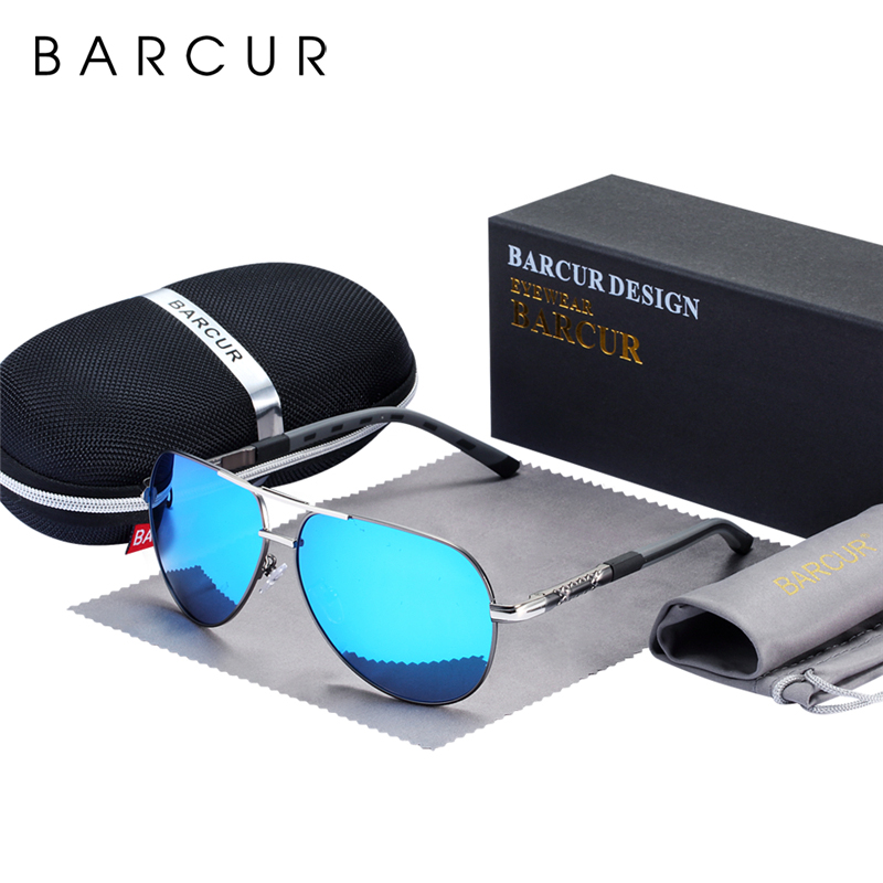 BARCUR Fashion Glasses Hot Style Men sunglasses Polarized UV400 Protection Driving Sun Glasses Male Oculos de sol 1