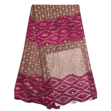 african french lace fabric high quality with stones/accessories clothing ladies NA369B