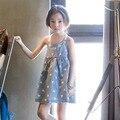 Хлопок маленькие большие девочки платья 8 9 10 12 лет синий рукавов принцесса девушки летнее платье размер 7 4 6 5 дети сарафан одежда