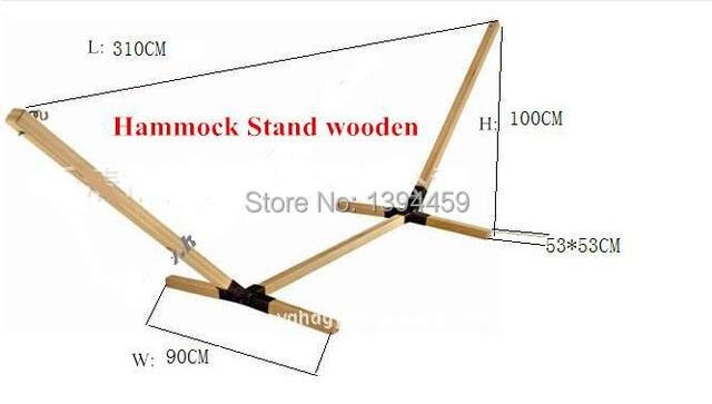 Soporte de madera para hamaca en hamacas de muebles en alibaba group - Bases para hamacas ...