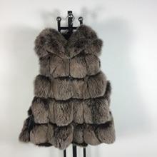 High quality winter coat  fashion luxury women's jacket gilet vests fox jacket real fox fur sleeveless vest